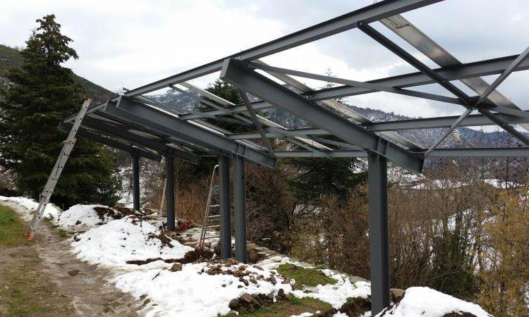 ARG Pose Structure métallique avec champ solaire Rosières